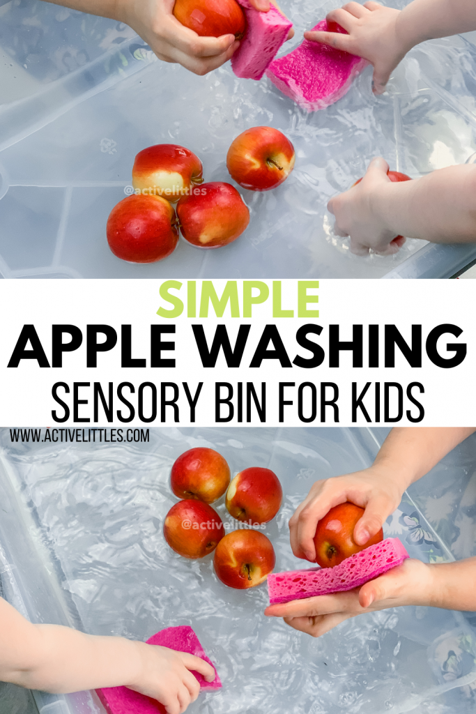 simple apple washing activity