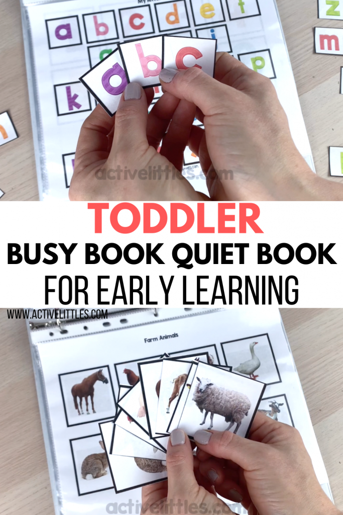 toddler busy book printable