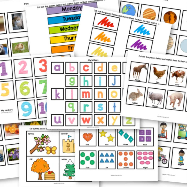 Free Printable Toddler Worksheets - Active Littles