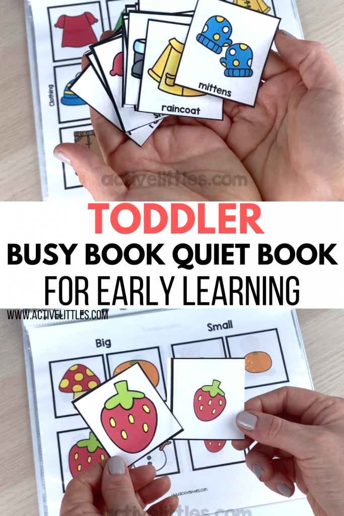toddler quiet book for kids