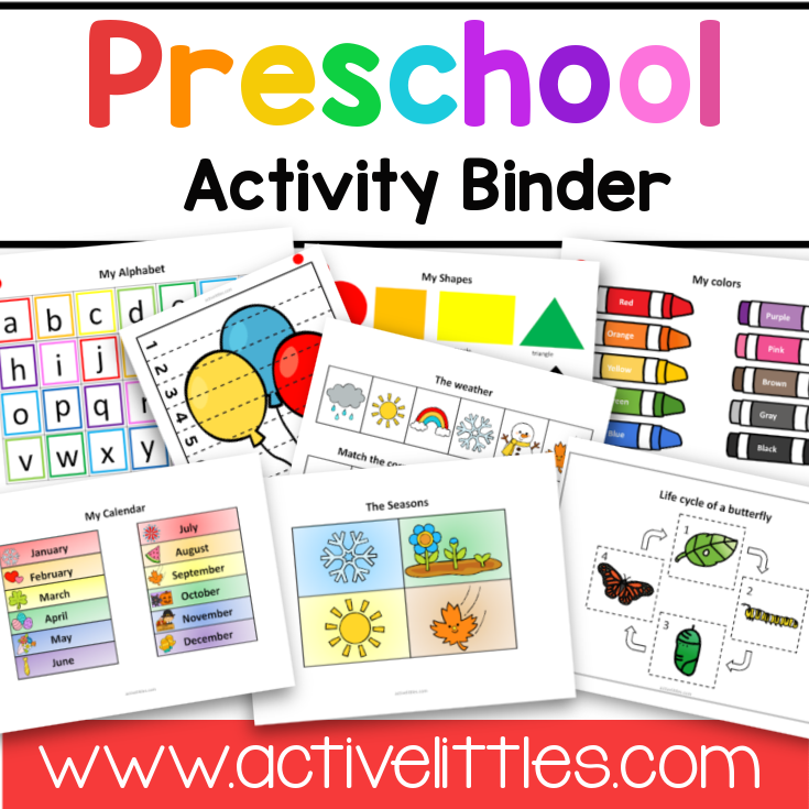 Preschool Activity Binder Busy Book Quiet Book