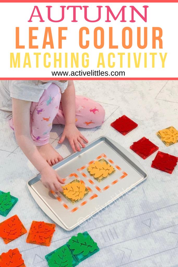 autumn color match activity for kids