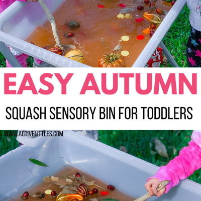 autumn squash sensory bin for toddlers