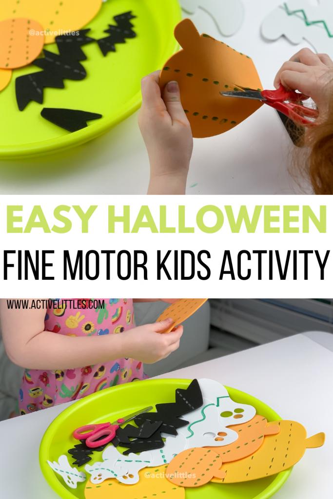 diy pumpkin craft fine motor activity
