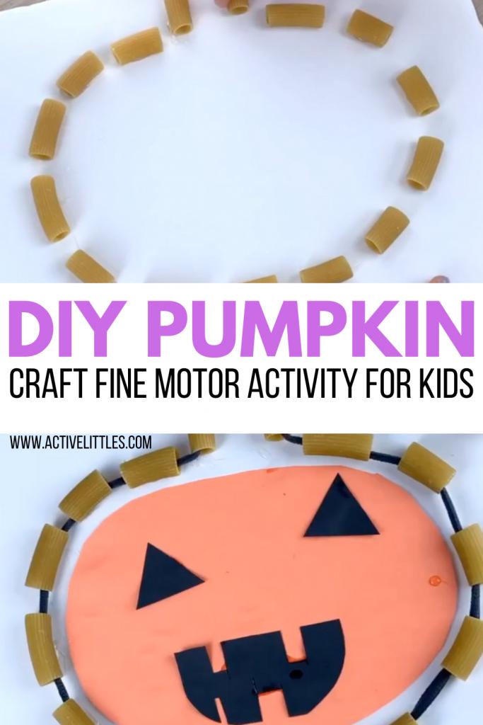 diy pumpkin craft fine motor activity for kids