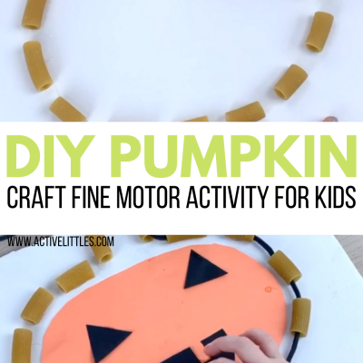diy pumpkin craft fine motor kids activity