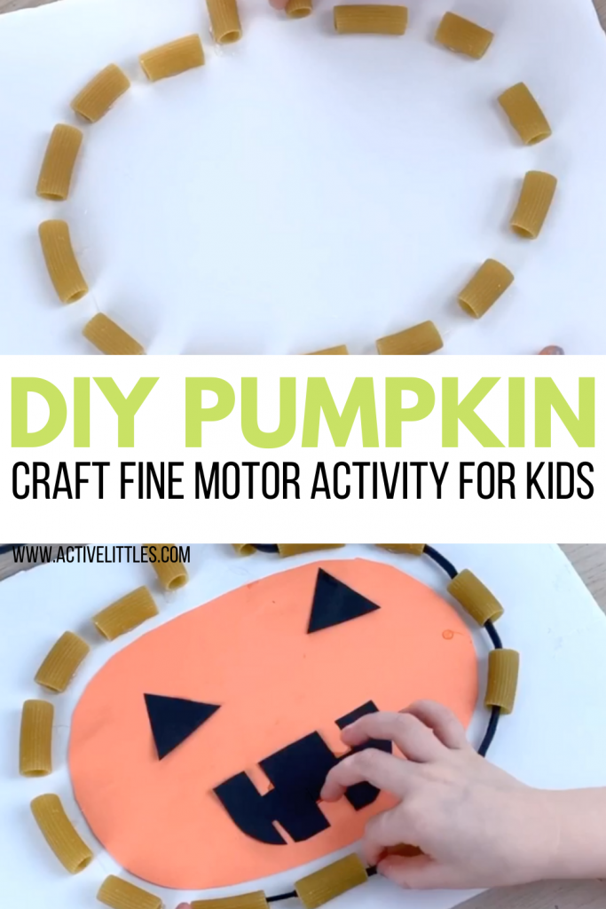diy pumpkin craft fine motor kids activity