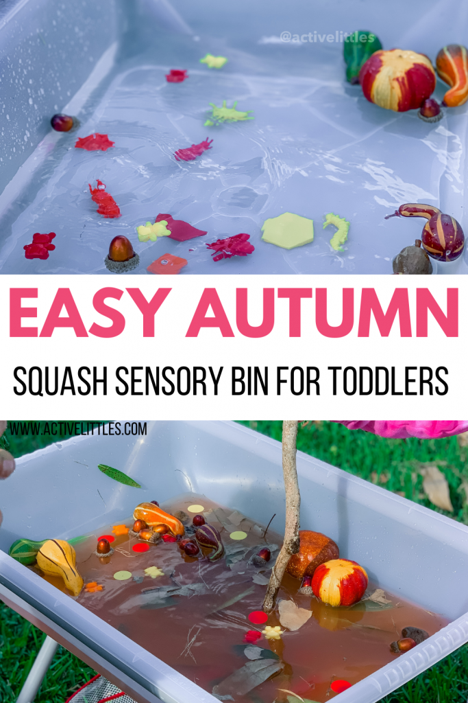 easy autumn sensory bin for kids