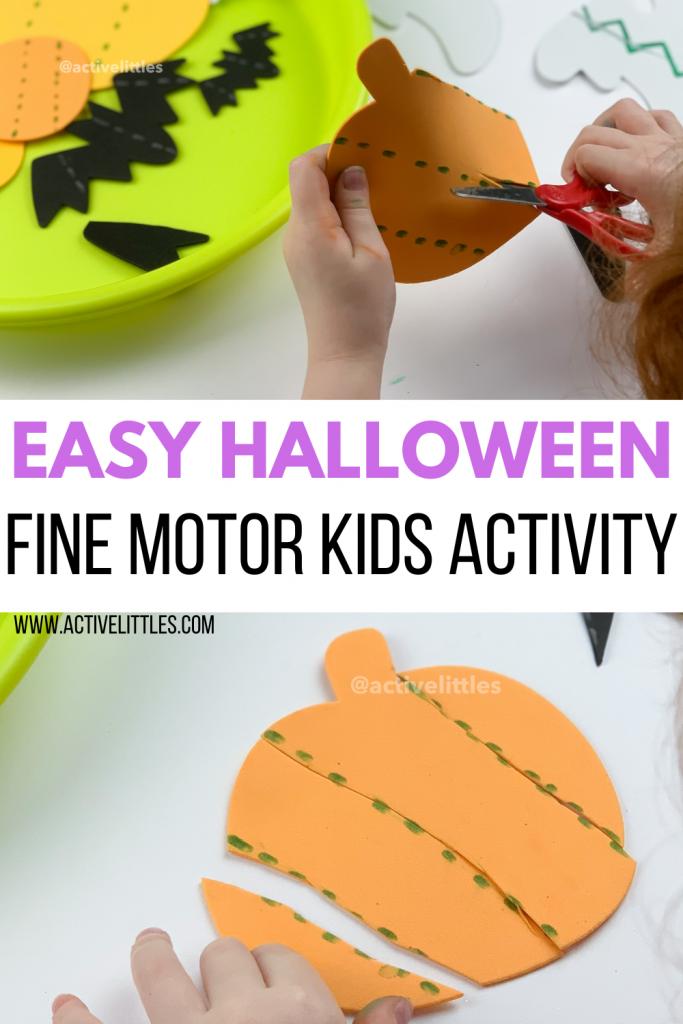 easy halloween fine motor activity for kids