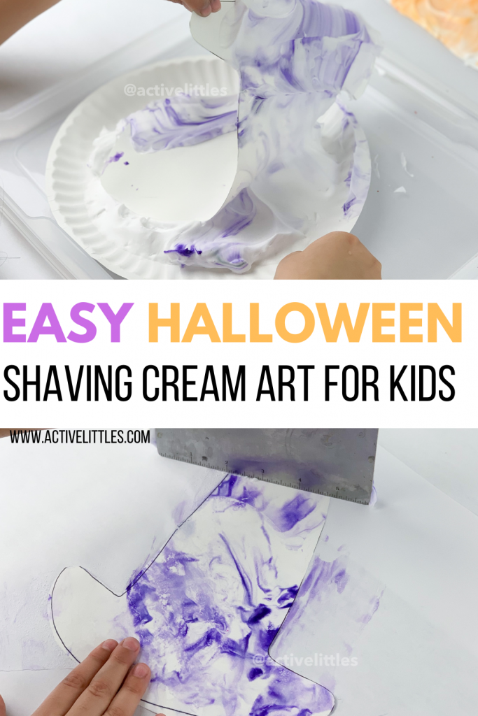 easy halloween shaving cream art