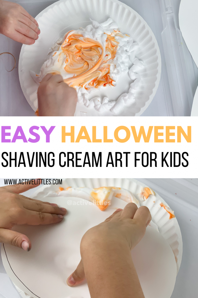 easy halloween shaving cream art for kids