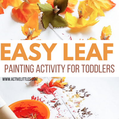 easy leaf painting activity for toddlers