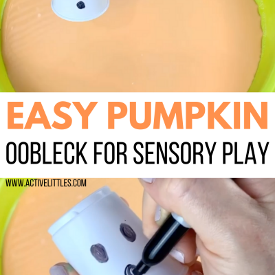 easy pumpkin oobleck activity