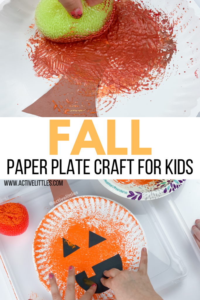 easy pumpkin paper plate activity for kids