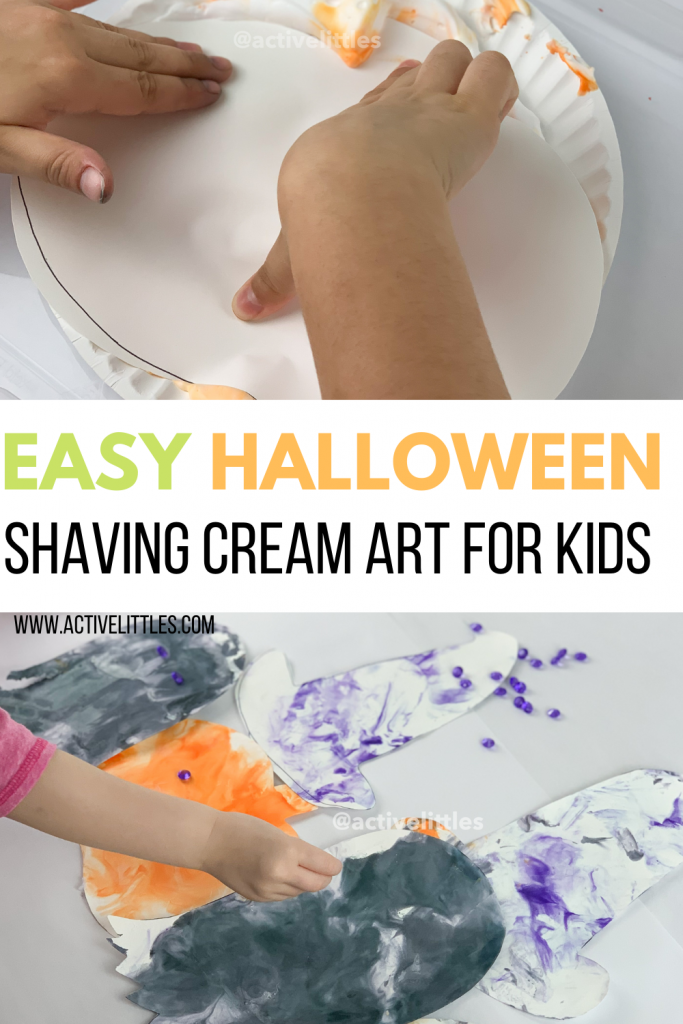 easy shaving cream art for kids