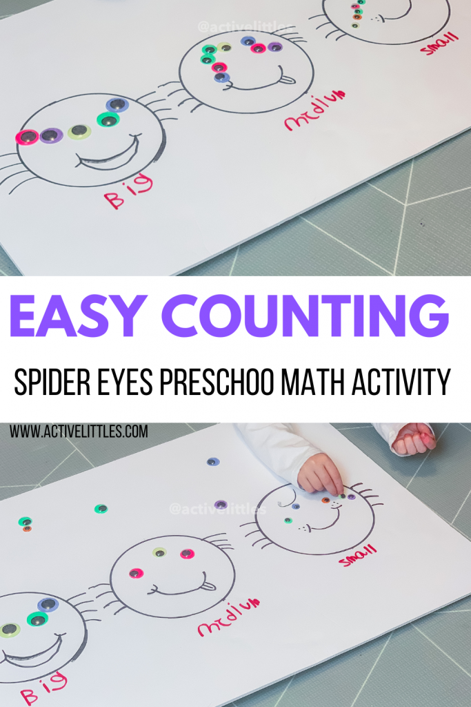 easy spider counting math activity for kids