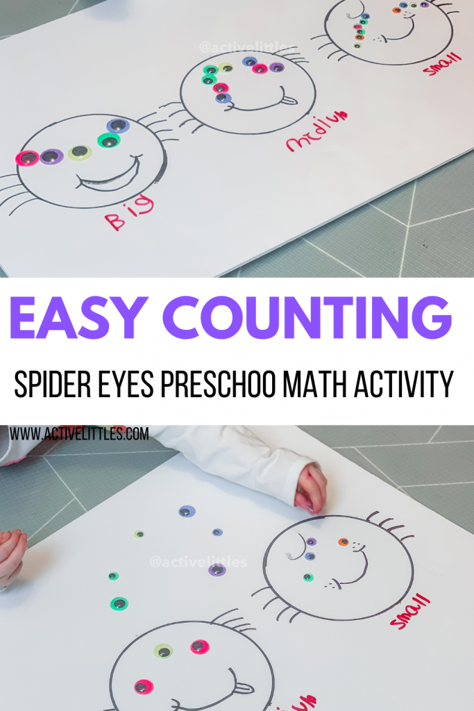 easy spider math activity for kids