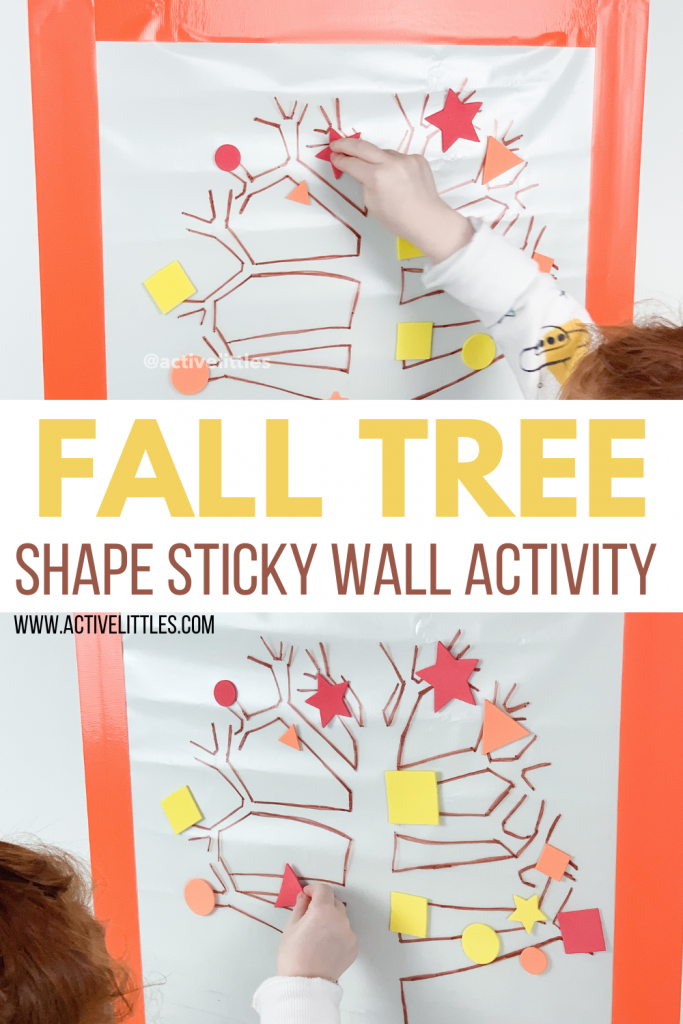 fall shape contact paper activity