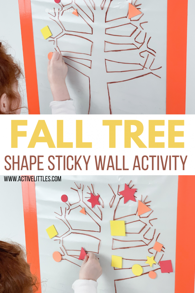 fall tree shape sticky wall activity