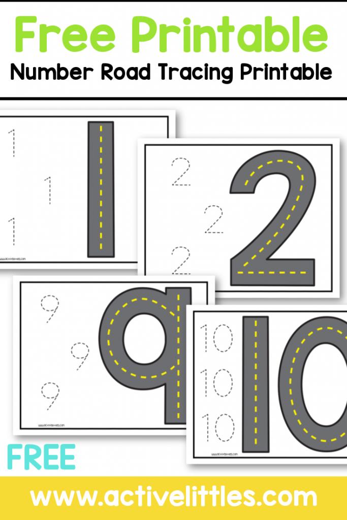 free printable number road tracing preschool printable