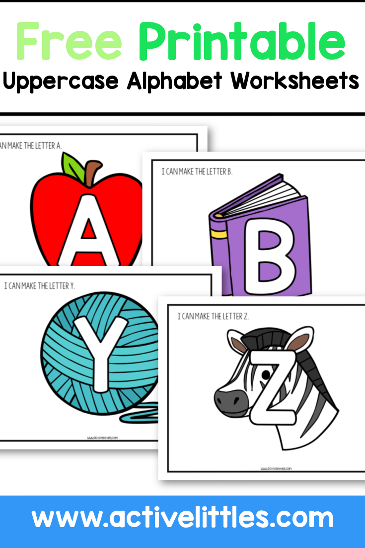 free printable uppercase alphabet worksheets