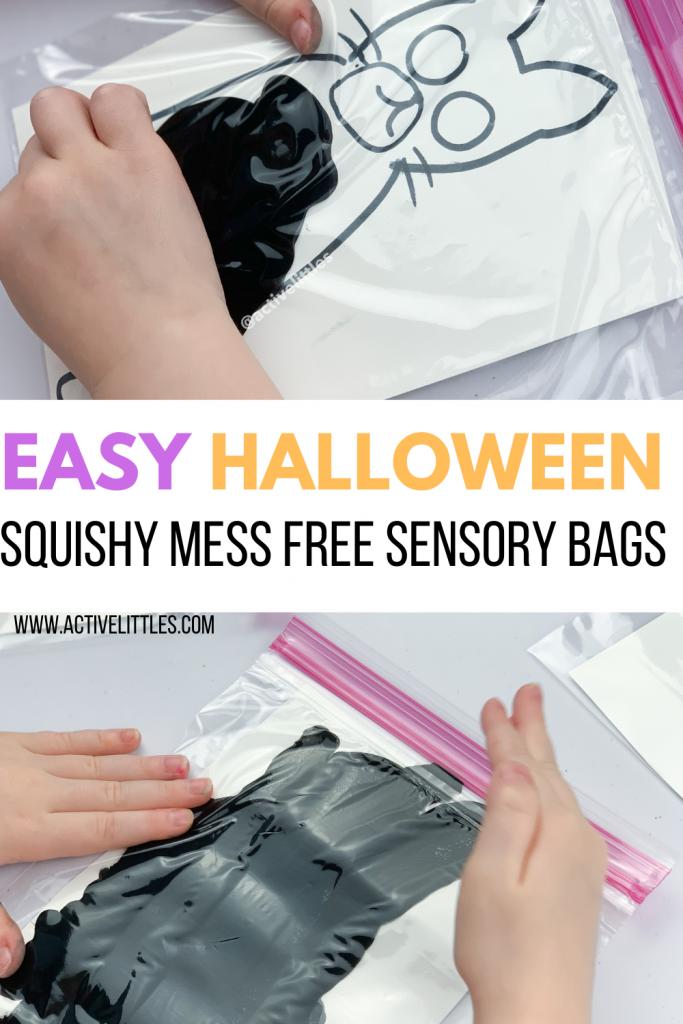 halloween squishy sensory bags for kids