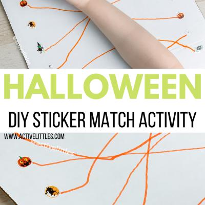 halloween sticker match kids activity
