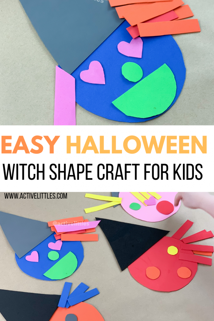 halloween witch shape activity for toddlers and preschool