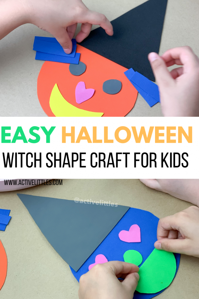 halloween witch shape craft and activity for kids