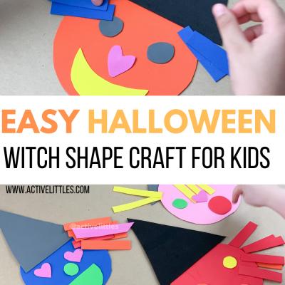 halloween witch shape kids activity