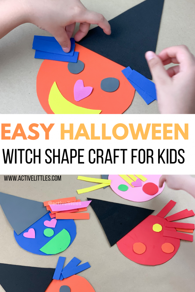halloween witch shape kids activity
