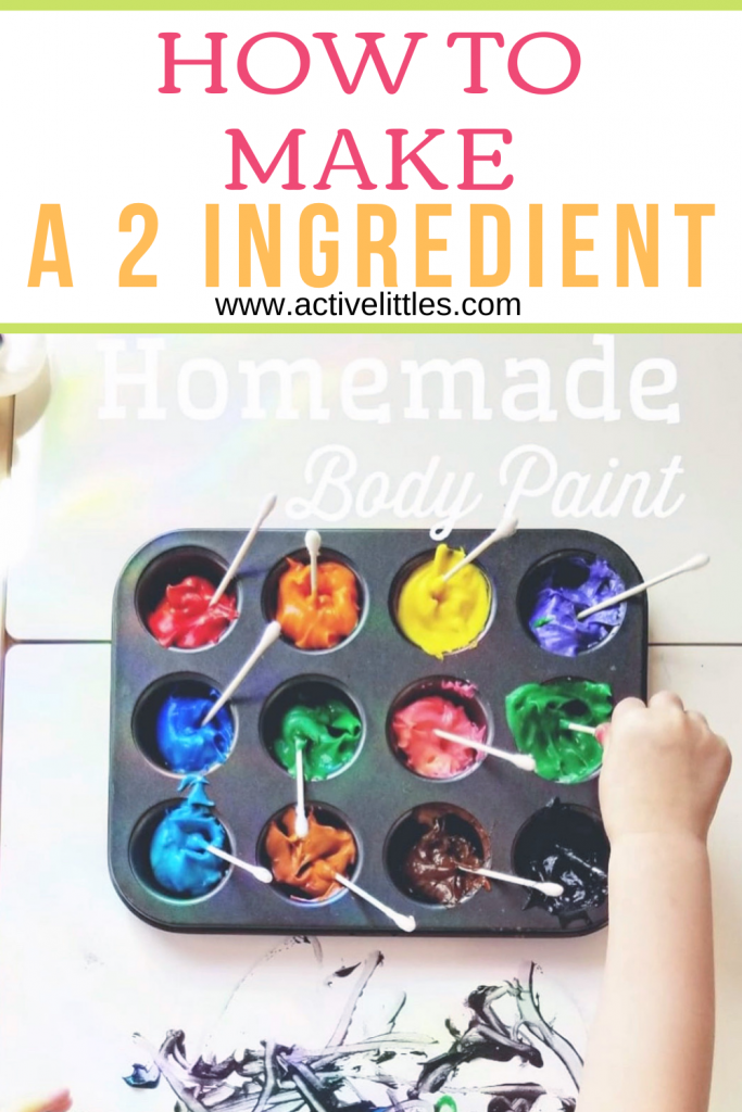 how to make 2 ingredient homemade diy body paint for kids
