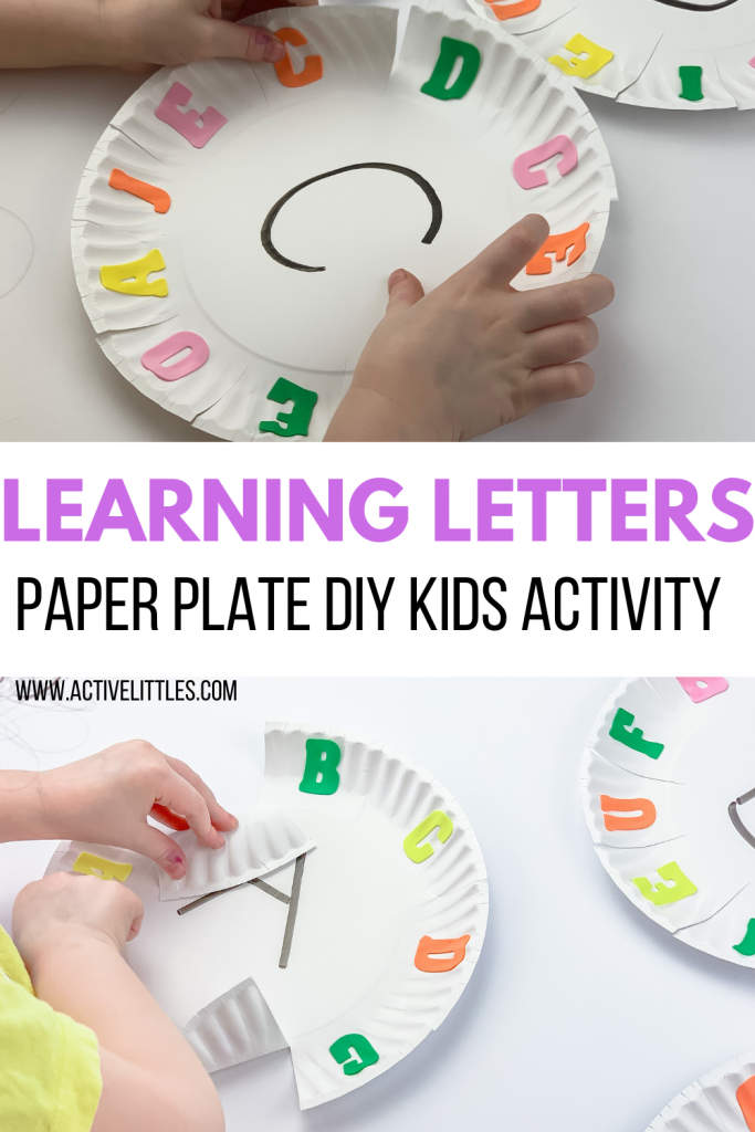 learning letters paper plate diy kids activity