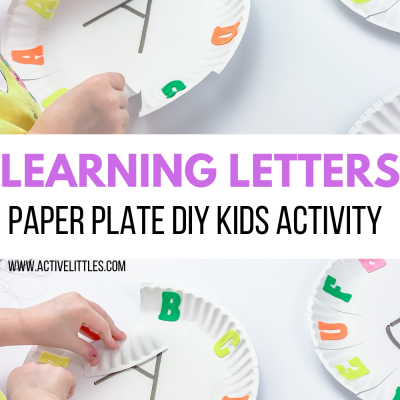 learning letters paper plate kids activity