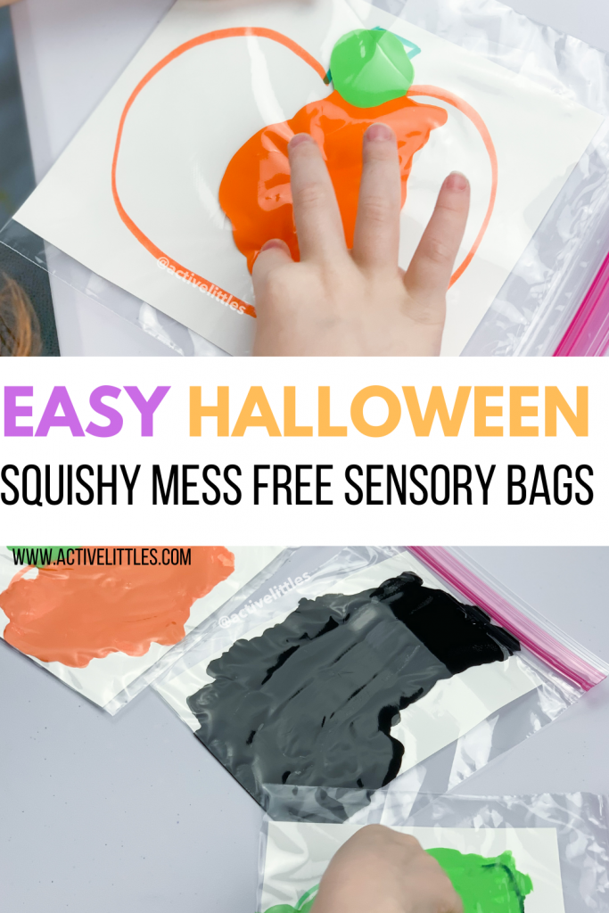 mess free sensory bag for kids