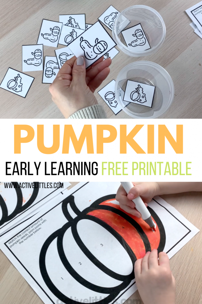 pumpkin early learning free printable