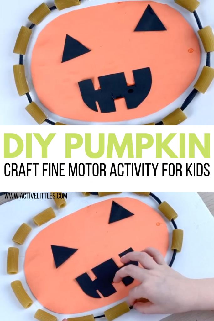 pumpkin fine motor kids activity