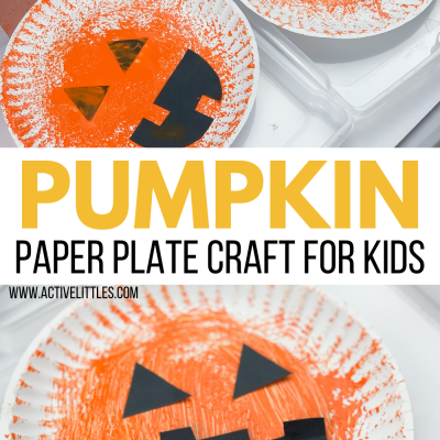 pumpkin paper plate craft for kids