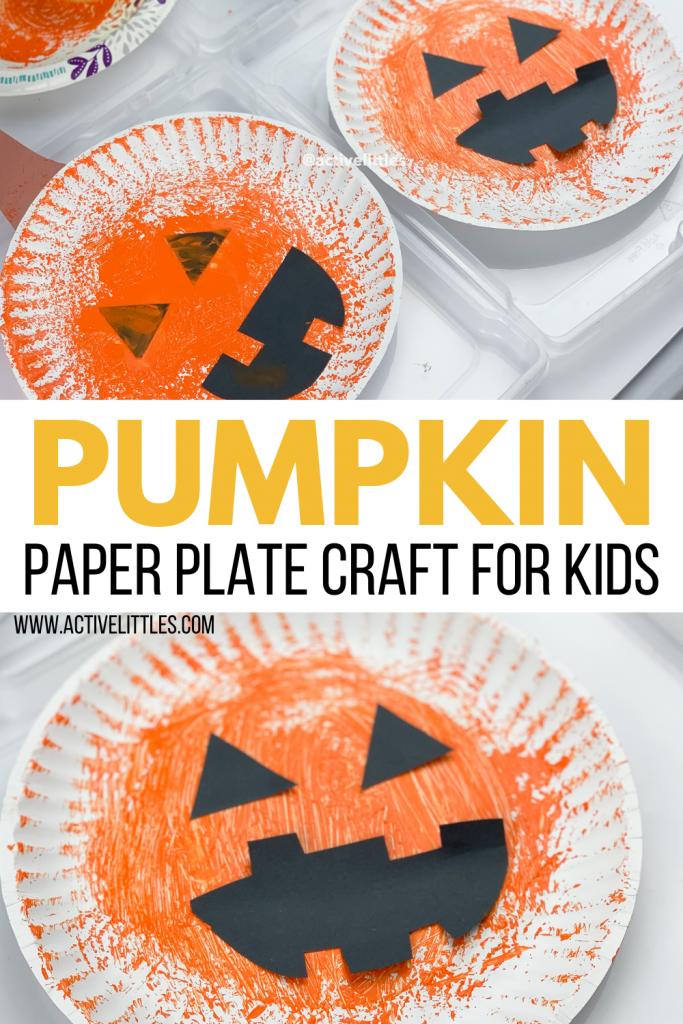 pumpkin paper plate craft for kids