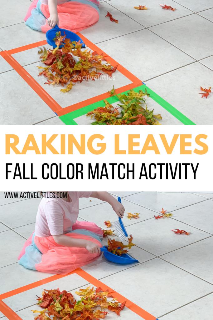 raking leaves activity for kids