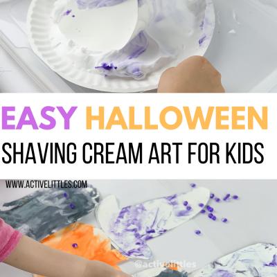 shaving cream art for kids