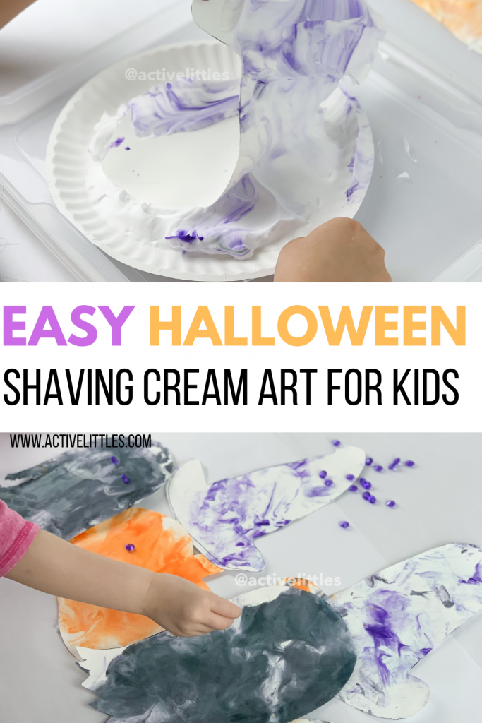 shaving cream art for kids