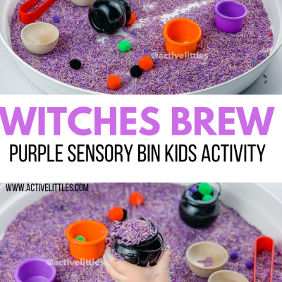 witches brew sensory bin