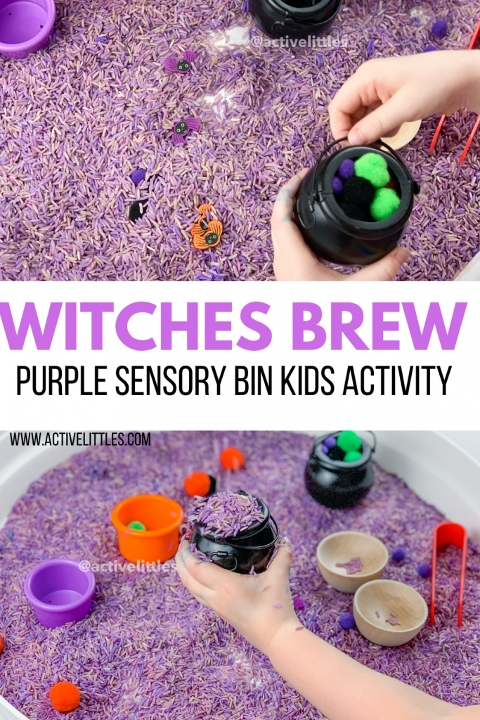 witches brew sensory play for kids