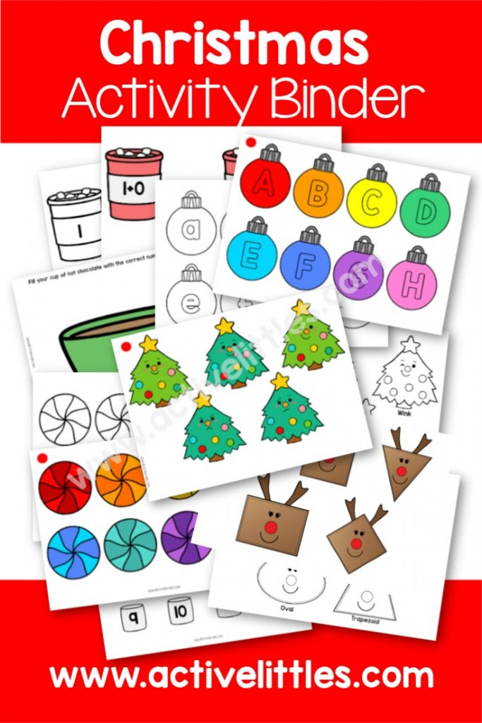 Christmas Activity Binder Printable Learning Folder Busy Book