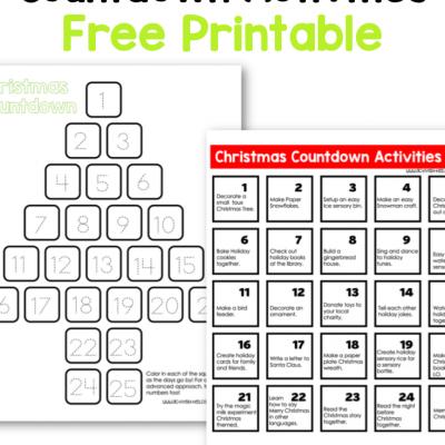 christmas countdown activities free printable