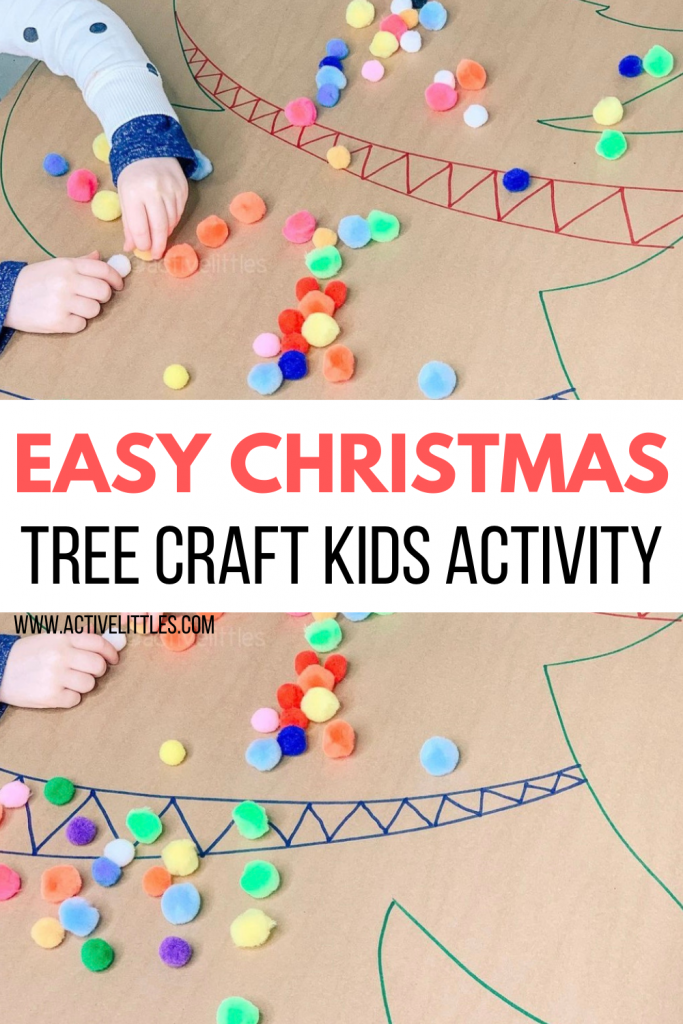 christmas pom pom activity for toddlers and for kids