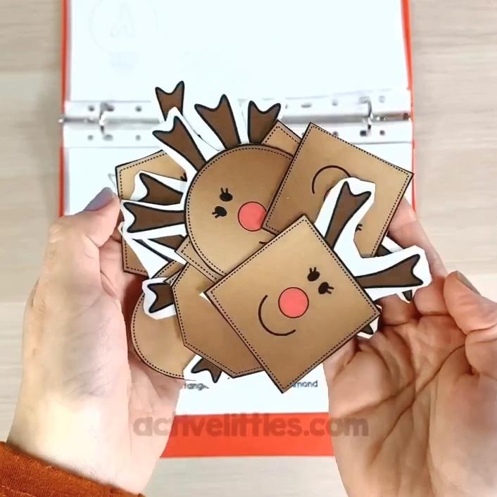 christmas preschool learning folder