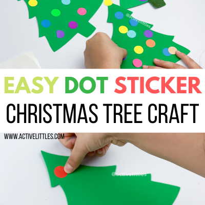 christmas tree dot sticker kids activity