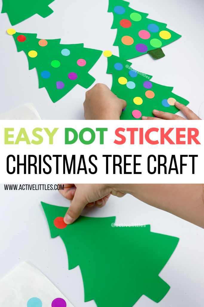 Easy Dot Sticker Christmas Tree Craft Active Littles